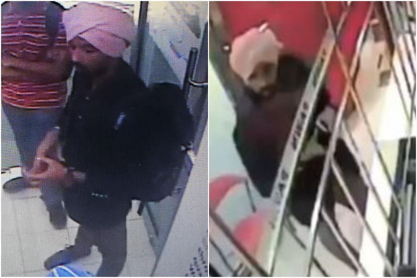 The police are looking for the man, who is about 1.75m tall and was last seen wearing a pink turban, blue jacket and long brown pants.