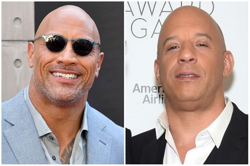 Vin Diesel (right) was reportedly unhappy when Dwayne Johnson joined the fifth Fast And The Furious film in 2011.