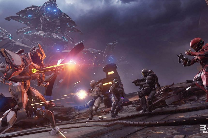An in-game photo of Halo 5: Guardians, a hugely popular and competitive first-person shooter.