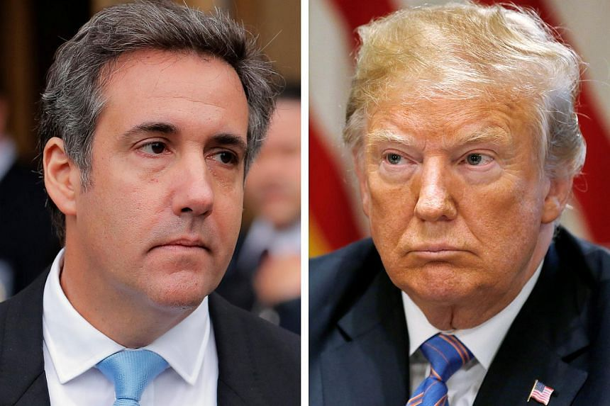 The relationship between US President Trump (right) and his one-time attorney Michael Cohen, started to turn sour when the latter was not offered a job in the administration.