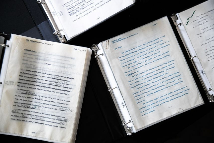 The manuscript and unpublished pages from The Autobiography Of Malcolm X at Guernsey's auction house in New York this week. Only one item – the 25-page typescript of The Negro – resembles a full chapter.