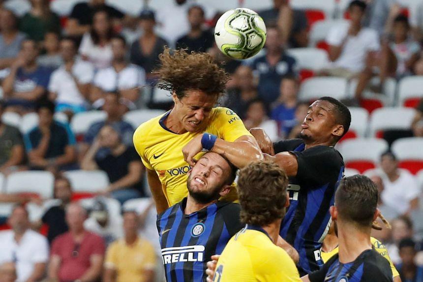 Chelsea's David Luiz in action.