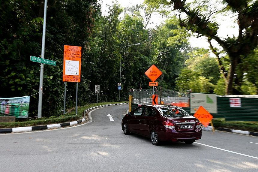 A 3km stretch of Old Upper Thomson Road is being converted into a one-way street to accommodate a new park connector.