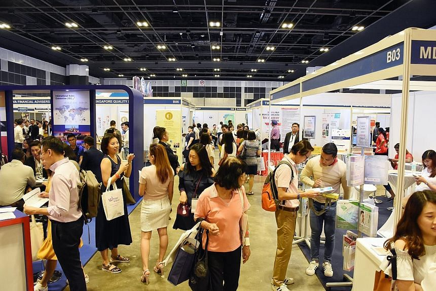 More than 15,000 people attended the STJobs Career and Learning Fair 2018, held at the Suntec Convention Centre Hall 403, yesterday. The annual event, organised by Singapore Press Holdings' online job portal STJobs, features more than 50 employers an