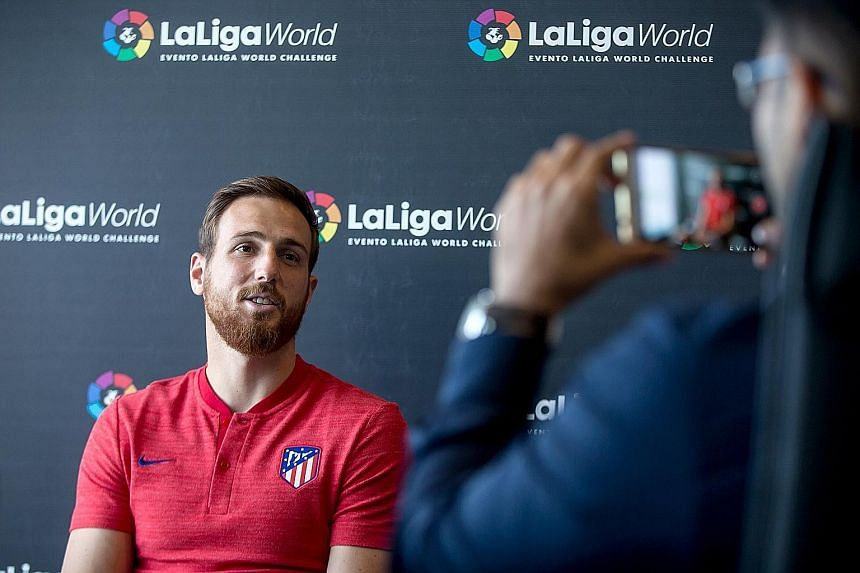 Goalkeeper Jan Oblak has played a key role in Europa League holders Atletico Madrid's recent success, keeping 68 clean sheets in 116 domestic games.