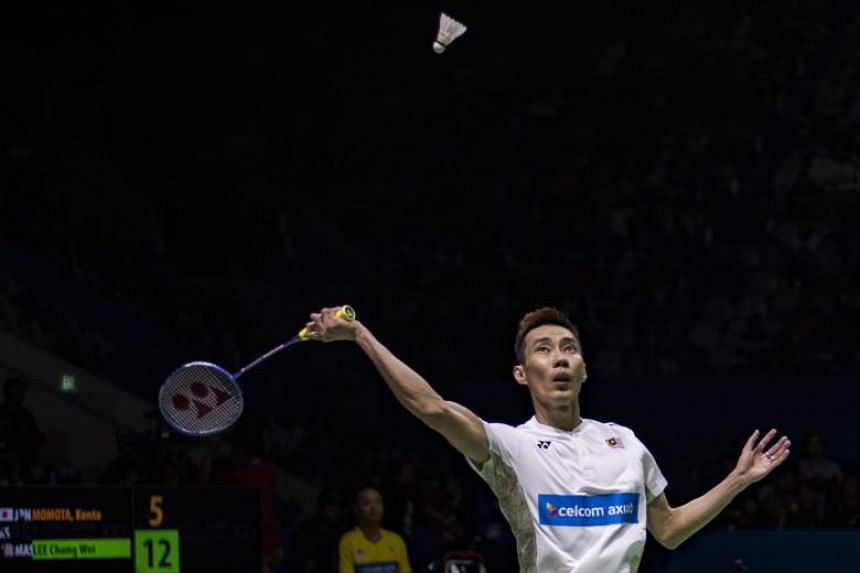 Lee Chong Wei during the men singles semi-final match at the Indonesia Open badminton tournament in Jakarta, on July 7, 2018.