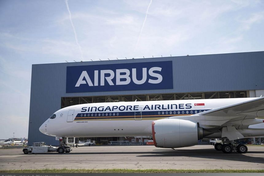 The first of seven Airbus 350-900ULR (ultra-long-range) aircraft that SIA has ordered.