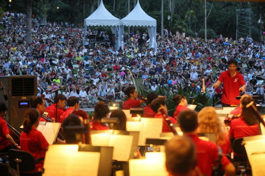 The Straits Times Concert in the Gardens at the Shaw Foundation Symphony Stage in the Singapore Botanic Gardens on July 29, 2018.