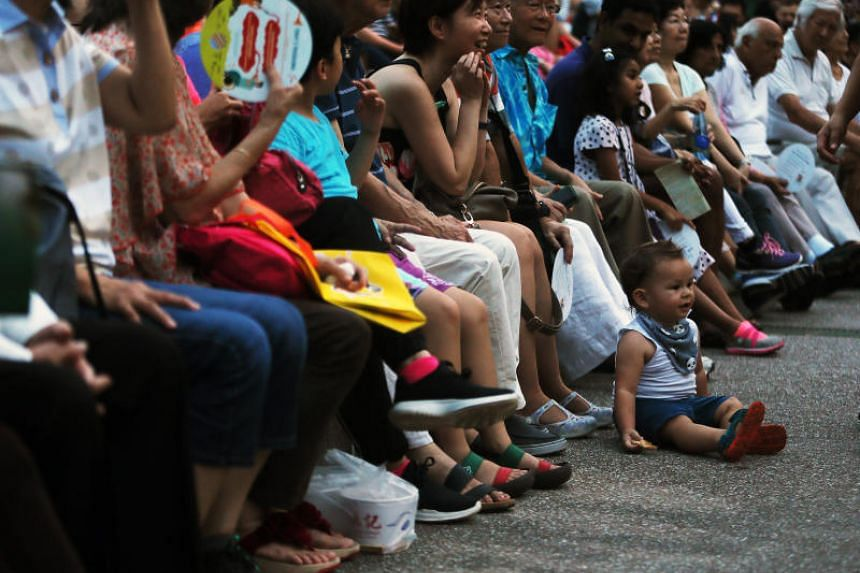 The audience at The Straits Times Concert in the Gardens at the Shaw Foundation Symphony Stage in the Singapore Botanic Gardens on July 29, 2018.