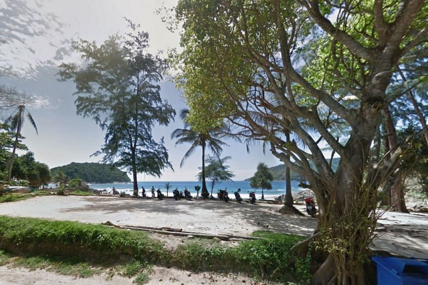 Yanui Beach in Phuket, where the crocodile was first sighted on July 18, 2018.