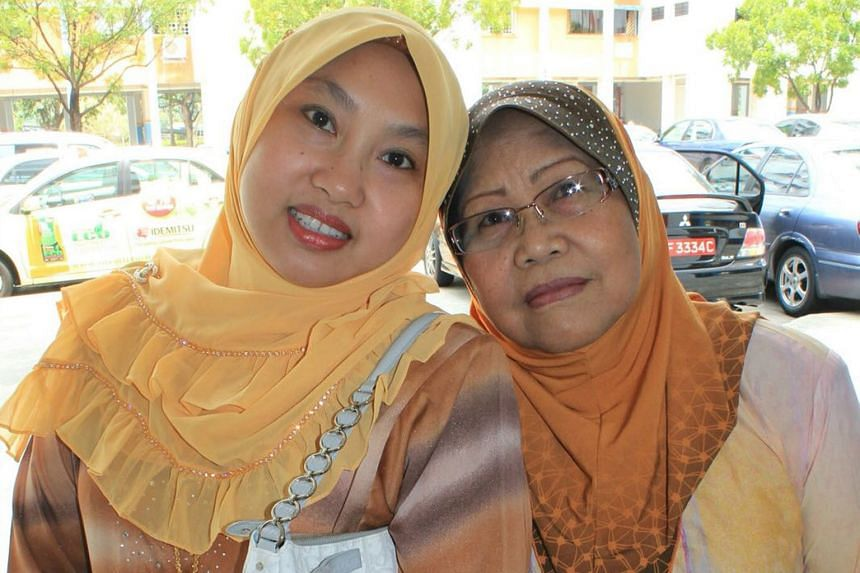 Ms Zulidiah Mohd Mohtar and her mother, Madam Patimah Ideris.