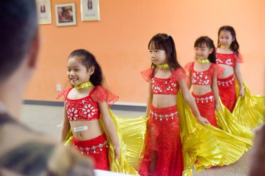 Shakiya Little F4 auditioning for the ChildAid concert at the Singapore Press Holdings News Centre on July 29, 2018.