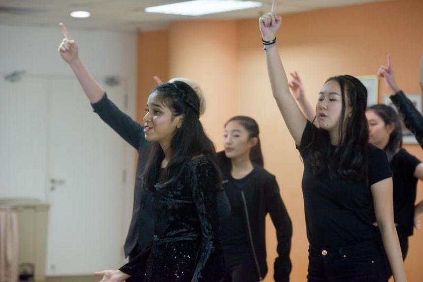 K-Aos, an a capella group of nine people aged 12 to 16, aged 12 to 16, auditioning for the ChildAid concert at the Singapore Press Holdings News Centre on July 29, 2018.