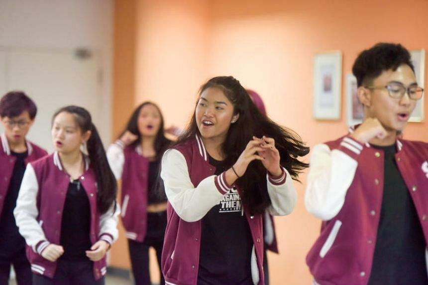 Synchronix Youth Show Choir, an a capella group of 10 people aged 11 to 18, auditioning for the ChildAid concert at the Singapore Press Holdings News Centre on July 29, 2018.