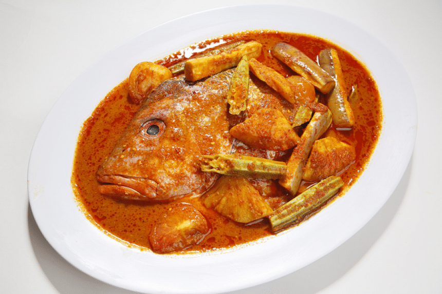 Signature Assam Fish Head Curry
