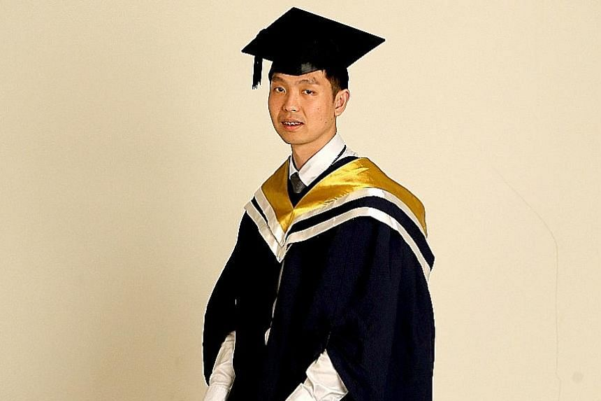 Mr Edwin Tan is graduating from Nanyang Technological University with an Honours (Highest Distinction) degree in electrical and electronic engineering. When he started working this year, he told his mother, who has many health problems, to retire.