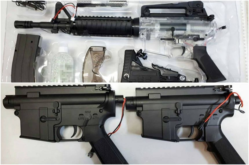 Airsoft guns, or any other guns which shoot pellets using compressed gas, are controlled items under the Arms and Explosives Act.