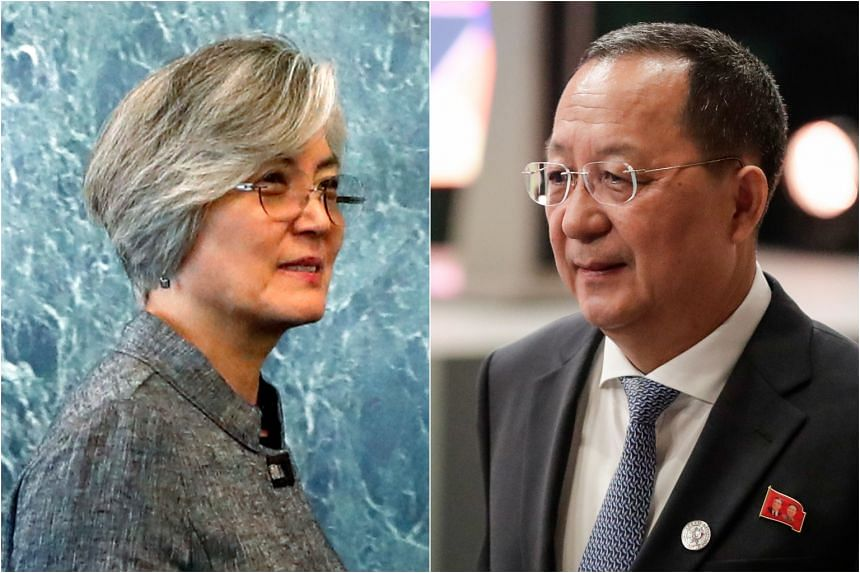 South Korean Foreign Minister Kang Kyung-wha (left) and her North Korean counterpart Ri Yong Ho are expected to be at the Asean Regional Forum in Singapore this week.