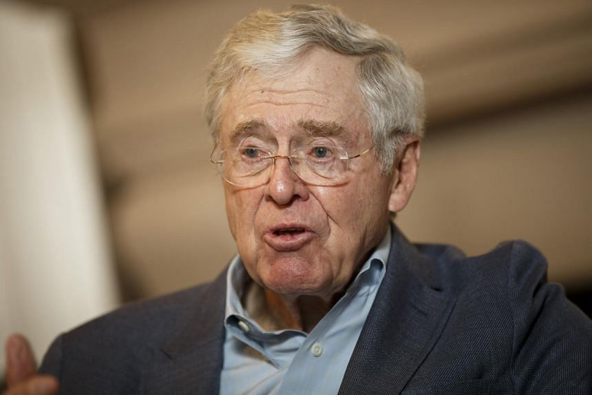 File photo of billionaire industrialist Charles Koch, who suggests that the US' actions on trade and tariffs bring risk of severe economic fallout.