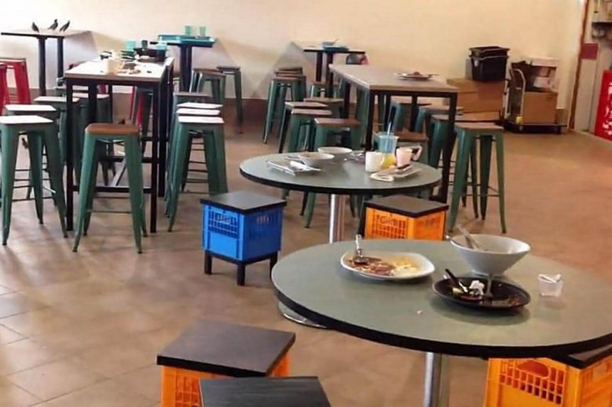Several hawkers complained of tables not being cleared by the cleaning contractors, and that plates and cups were constantly damaged by the dishwashers.