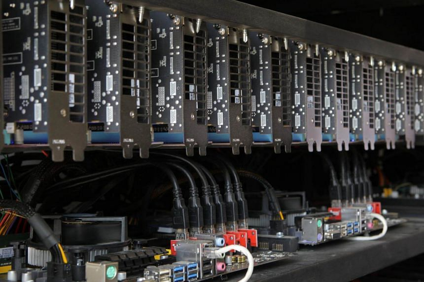 Cryptocurrency mining facilities seen in Pristina, Kosovo, on June 12, 2018.