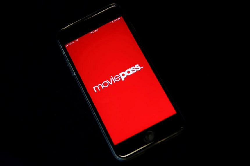 MoviePass, a US movie ticket subscription app, seen on a mobile phone in this photo illustration taken in New York, US, on May 15, 2018.