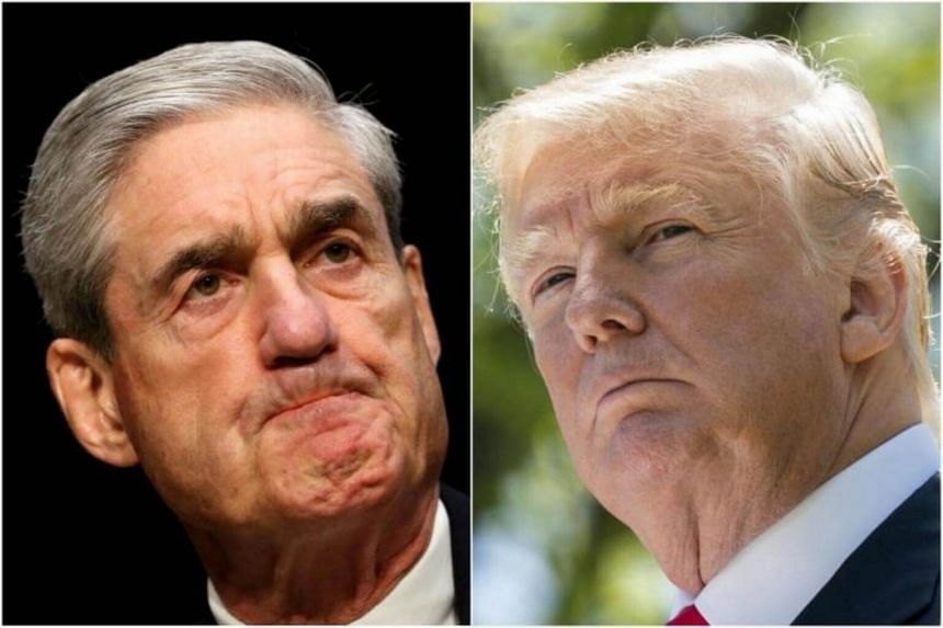 """US President Donald Trump had alleged that he had """"a very nasty & contentious business relationship"""" with Special Counsel Robert  Mueller (left)."""