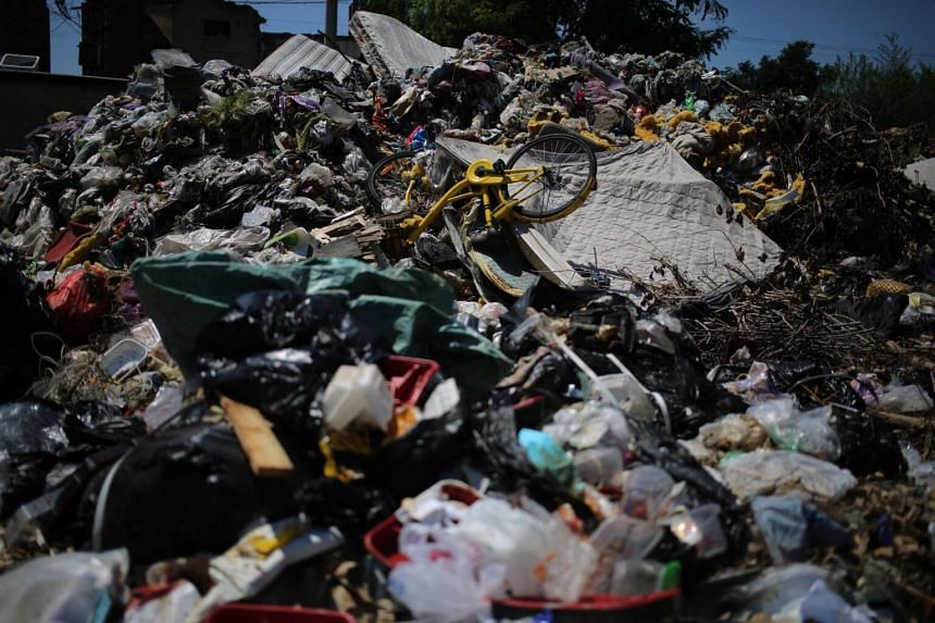About 41 per cent of solid waste in China was incinerated in 2016, according to China's National Bureau of Statistics.
