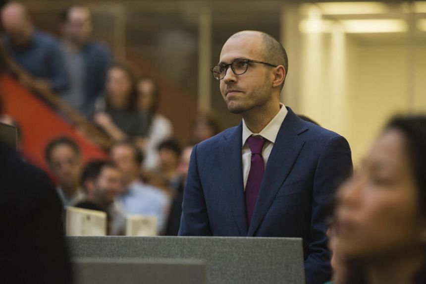 A.G. Sulzberger, the publisher of The New York Times, in the newsroom in New York, on April 16, 2018.