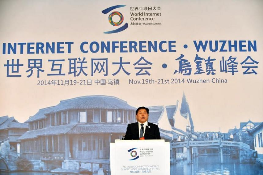 Lu Wei, China's Minister of the Cyberspace Administration, speaks at the opening ceremony of the first World Internet Conference in Tongxiang, China, on Nov 19, 2014.
