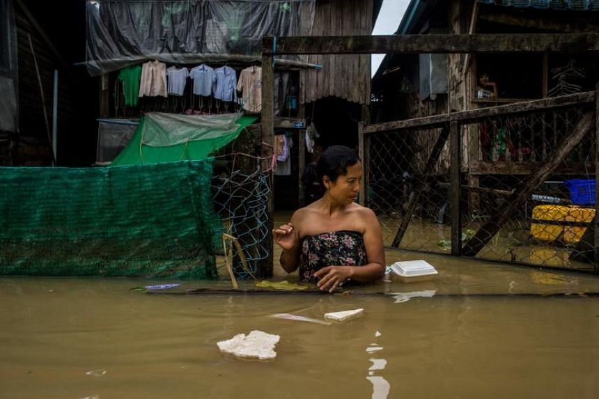 Myanmar's government has urged people to leave low-lying areas and move into relief shelters.