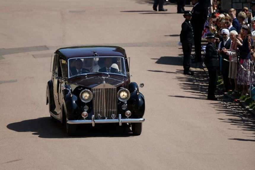 Top of the list at the sale is a 1953 Rolls-Royce Phantom IV State Landaulette, which is very similar to the bridal car used to transport Meghan Markle (above) to Windsor Castle for her wedding to Prince Harry.