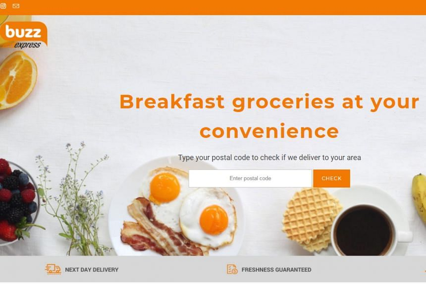 Buzz Express carries breakfast staples such as Gardenia loaves, BreadTalk's baked buns and cakes, eggs, special breakfast combos and Singapore Press Holdings' SPH newspapers.