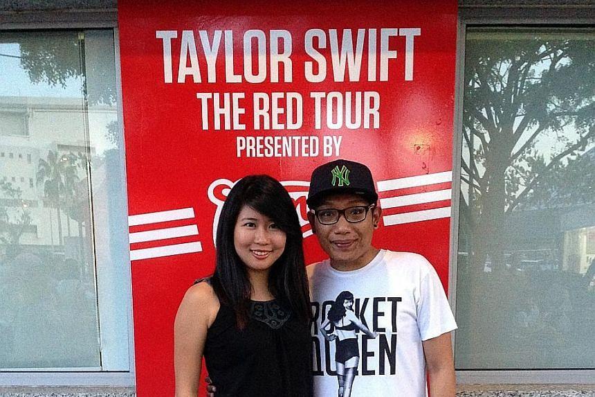 Clara Lock and Daniel Selvakumar at a Taylor Swift concert in 2013.