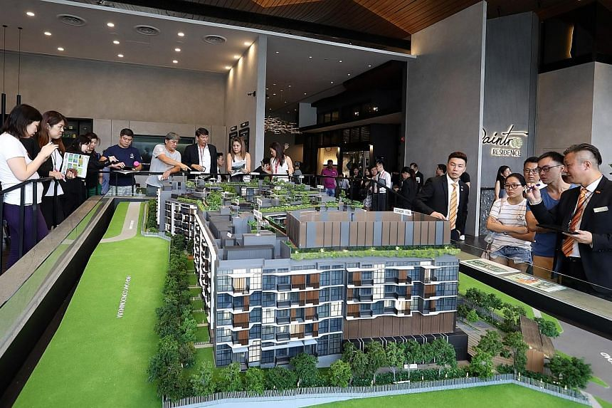 Right: SP Setia sold 50 units at Daintree Residence in the first phase of the 327-unit project's launch at the weekend. Far right: Previews of South Beach Residences have been postponed.