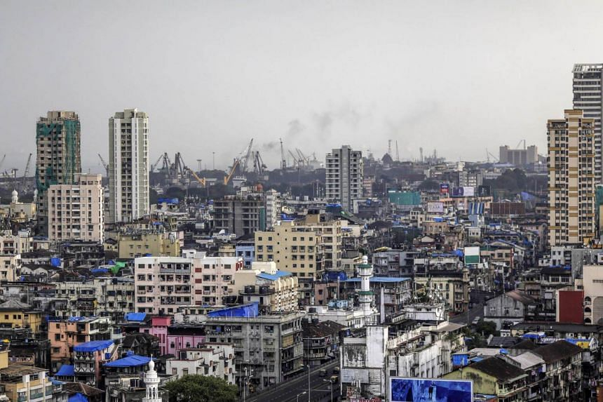 File photo showing residential and commercial buildings in Mumbai, India.