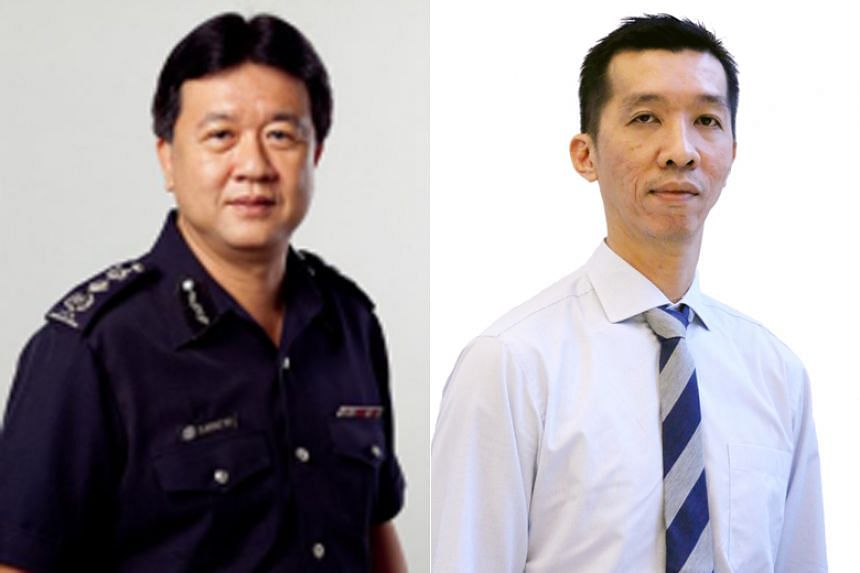 Commissioner Clarence Yeo (left) will be replaced by Mr Marvin Sim (right), who will join the Immigration and Checkpoints Authority as Commissioner-Designate on Aug 13, 2018, and take over from Mr Yeo fully on Sept 3, 2018.