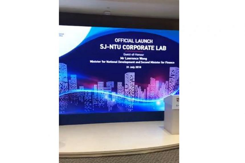 The lab was launched by Nanyang Technological University, consultancy Surbana Jurong and the National Research Foundation on July 31, 2018.