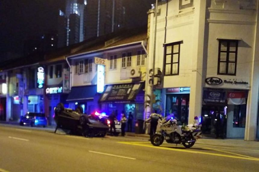 The Straits Times understands that the accident happened after the car filtered into the lane that the taxi was travelling in.