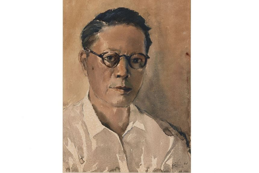 Singapore artist Lim Cheng Hoe's works include The Estuary (1970) and Self-Portrait (1964, above).
