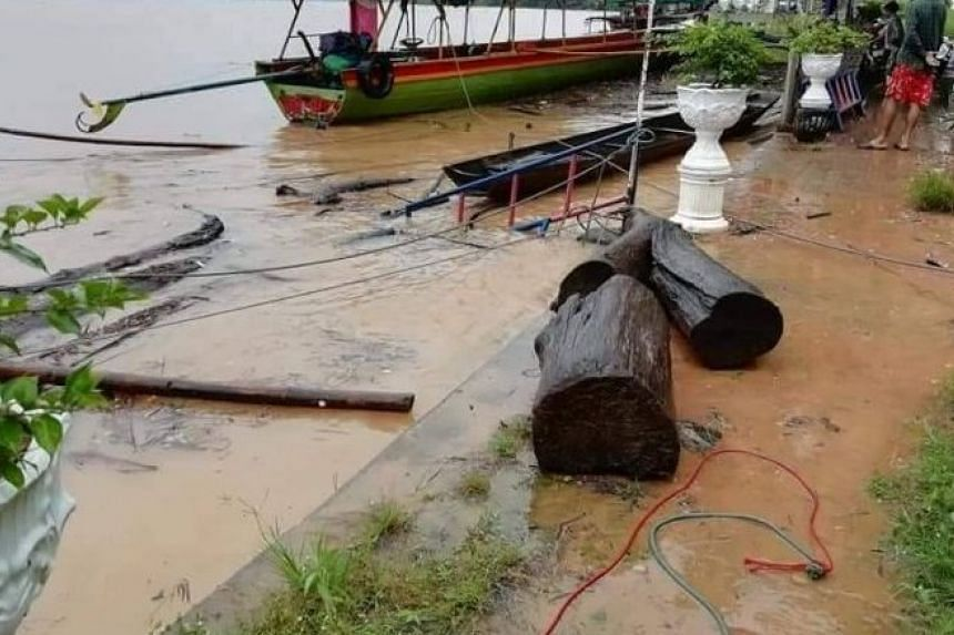 In north-eastern province of Ubon Ratchathani, flash floods submerged several communities along its banks.