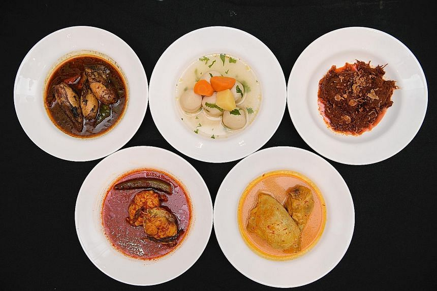Senior Parliamentary Secretary for Health Amrin Amin says getting more F&B partners on board the Healthier Dining Programme is part of his ministry's fight against diabetes. Rumah Makan Minang's five new healthier dishes are (clockwise from top left)