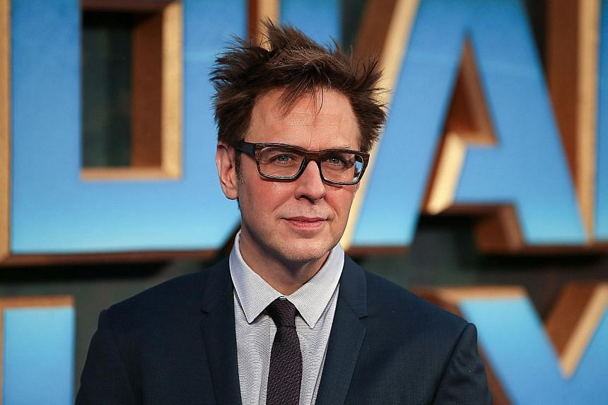 Chris Pratt (left) and the cast of The Guardians Of The Galaxy, including Zoe Saldana and Bradley Cooper, expressed their shock over James Gunn's (above) ouster by Disney.