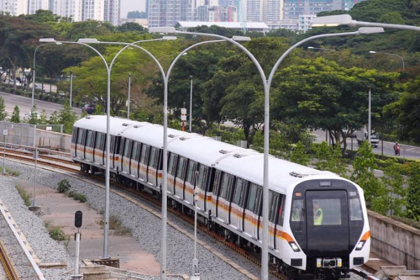 The first Thomson-East Coast Line train. The first northern section in Woodlands is slated to open in the second half of next year.
