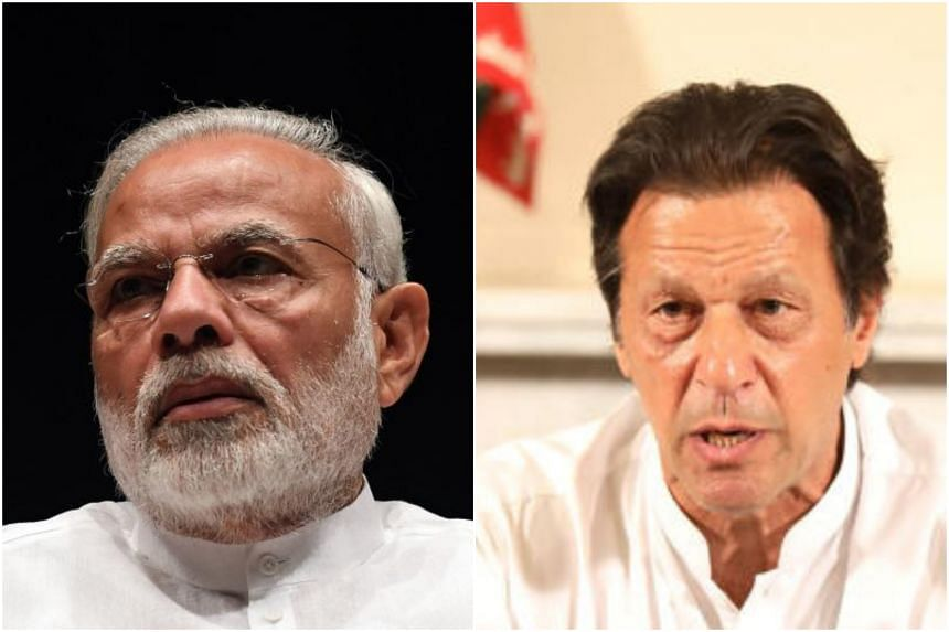 Indian Prime Minister Narendra Modi (left) hopes for peace as he congratulated cricketer-turned-politician Imran Khan, who would also like to improve ties with India, particularly in trade.