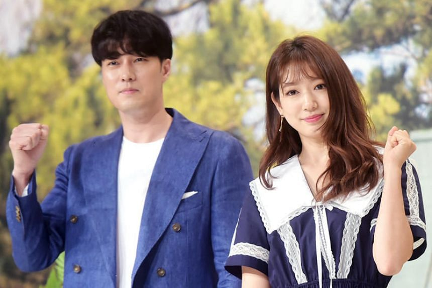 Little Cabin In The Woods features A-list actors So Ji-sub (left) and Park Shin-hye living idyllic lives in an isolated forest cabin on Jeju Island.