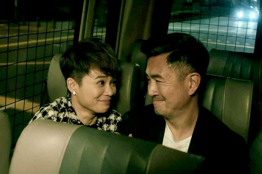 A still from the film Republic of Food starring Yeo Yann Yann and Adrian Pang.