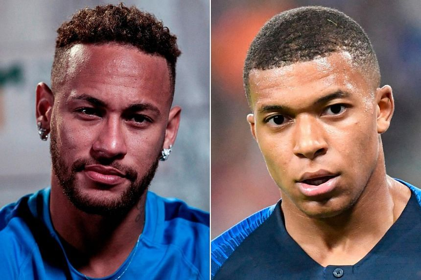 Neymar (left), the world's most expensive footballer and Kylian Mbappe, who played a pivotal role in France's World Cup-winning campaign.