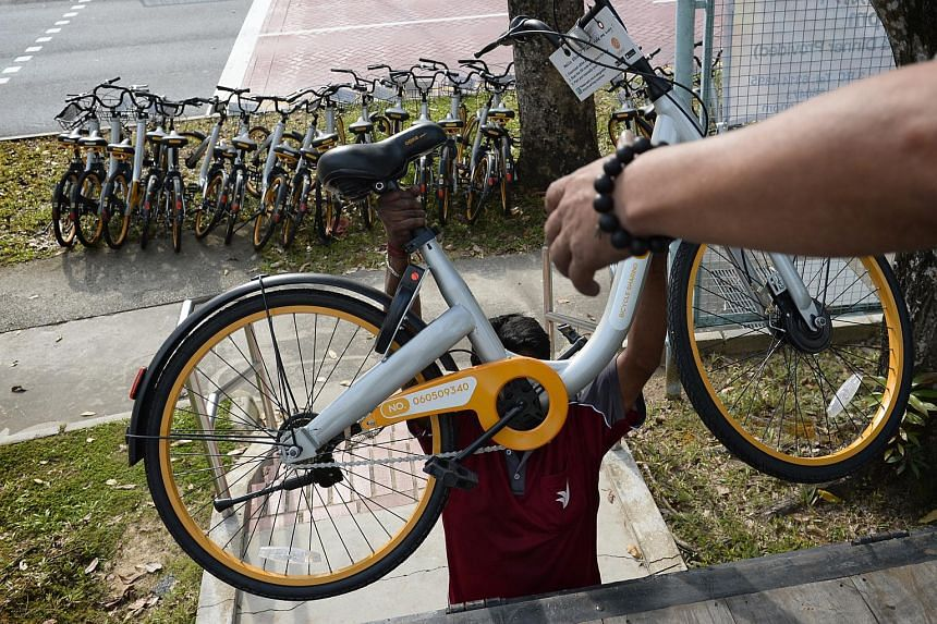 Obike Bicycles About  Per Cent Of The Total Number Here Removed From Public Spaces Lta
