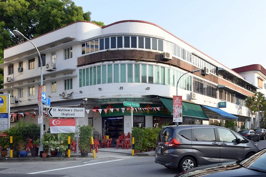 Ting Heng Seafood Restaurant on the corner of Tiong Poh Road and its neighbour, Drips Bakery Cafe, are among businesses allowed to occupy ground-floor units in Tiong Bahru.